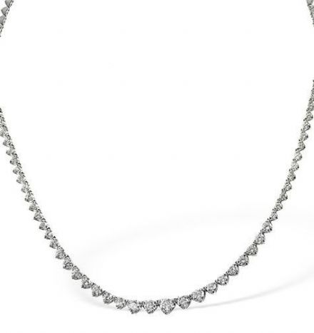 18K White Gold 3.00ct G/VS Diamond Necklace B1250-300VSW